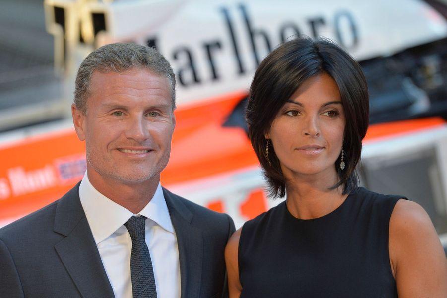 David Coulthard et son épouse Karen Minier