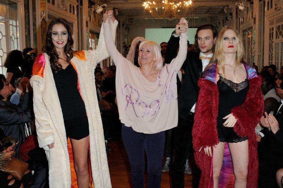 Louise Depardieu après le défilé