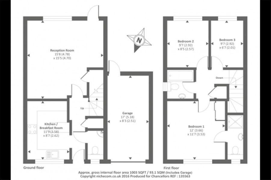 Le plan de la maison délivré par l'agence immobilière