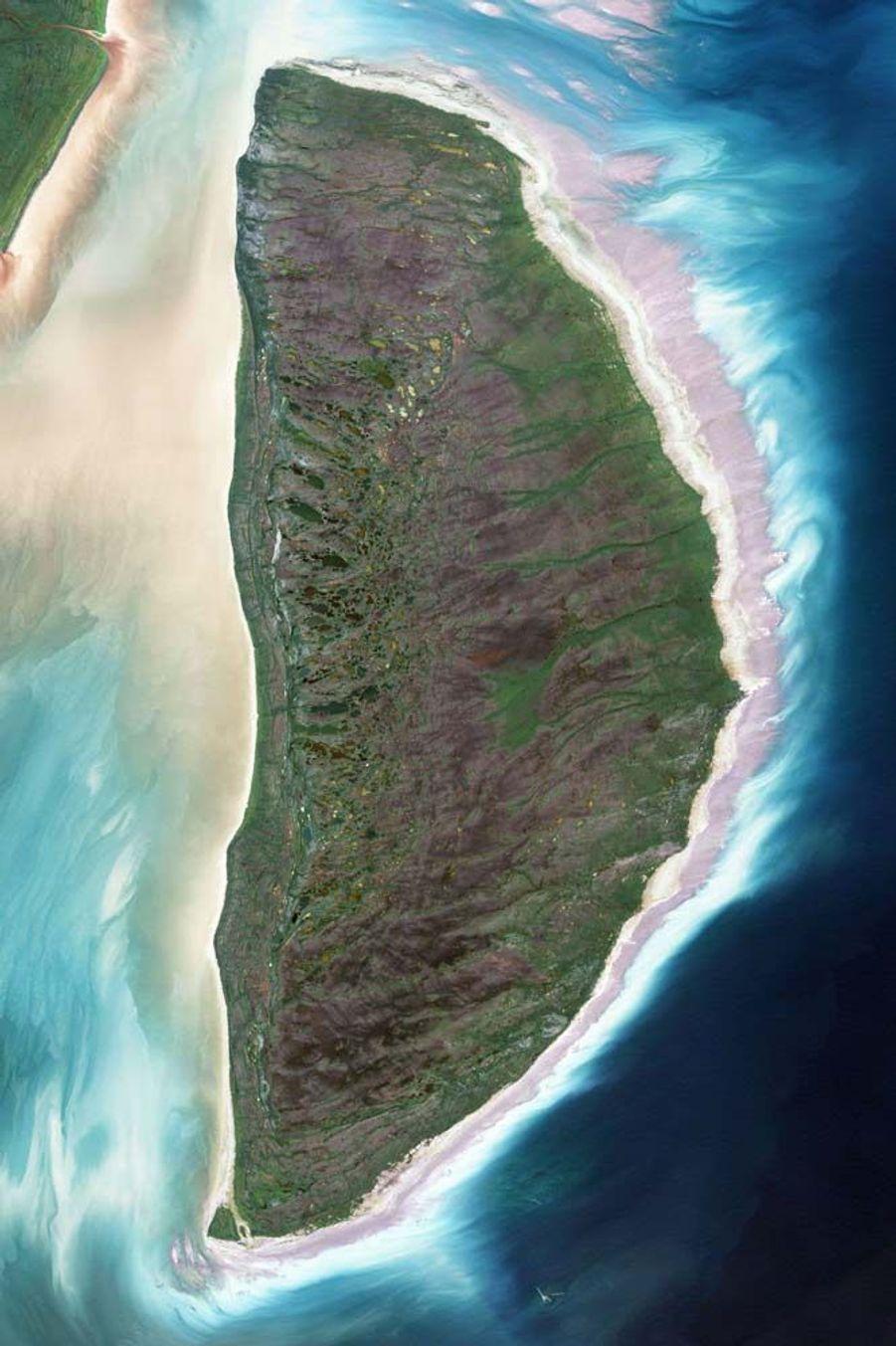 L'île Akimiski forme un D, au Canada.