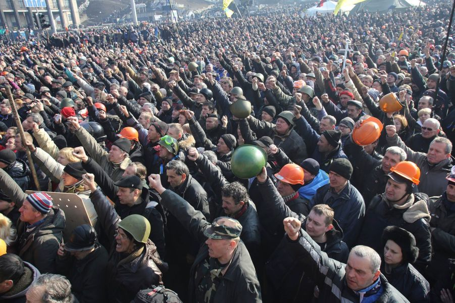 Manifestation anti-Ianoukovitch