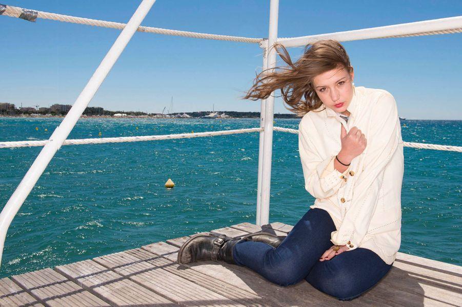 Samedi 25 mai, sur la plage Terrazza Martini. La grande révélation du Festival a fait chavirer le jury dans « La vie d'Adèle ».
