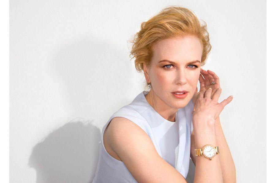 Samedi 25 mai, en robe Dior, bijoux Harry Winston et montre Omega, sur la terrasse Mouton Cadet du Palais des Festivals. L'actrice était membre du jury de ce 66e Festival.