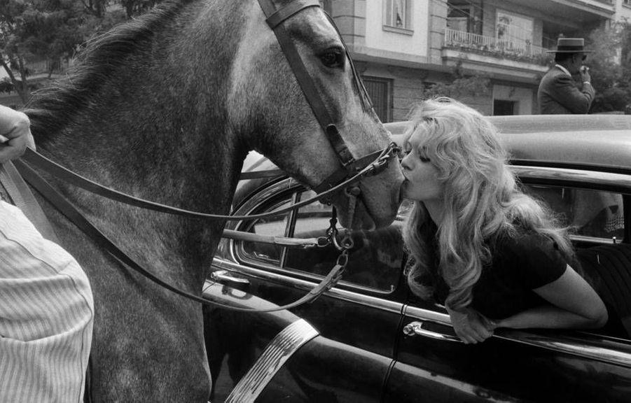 Brigitte Bardot est à Séville pour le tournage du film La femme et le pantin, de Julien Duvivier. 1958.