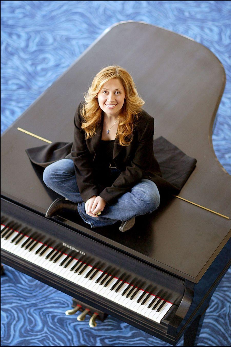 Lara Fabian, avant son spectacle avec l'Orchestre Symphonique de Montreal, le 23 février 2004.