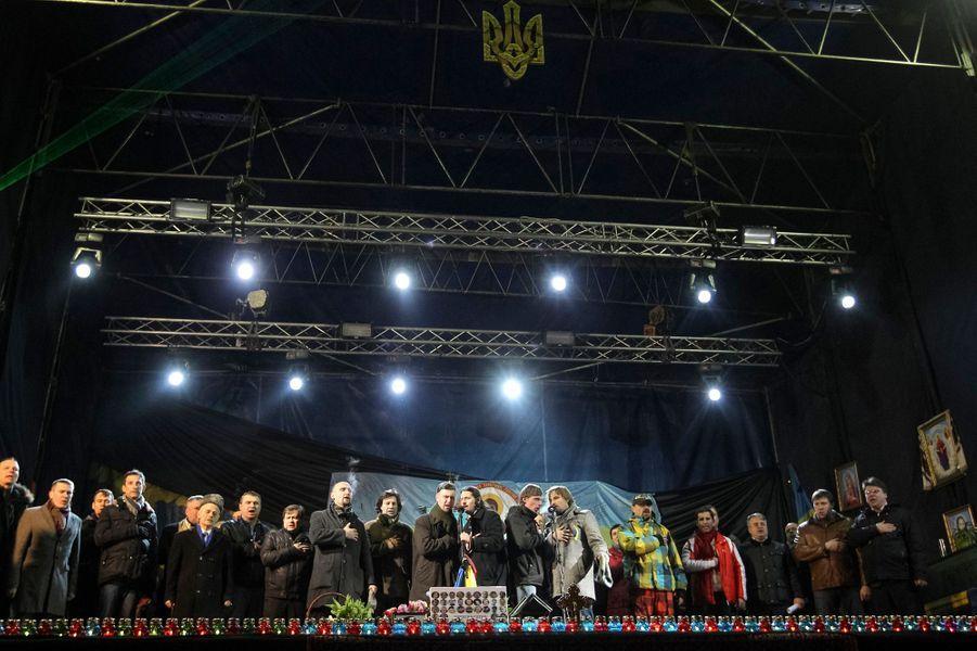 A Kiev, le nouveau gouvernement provisoire