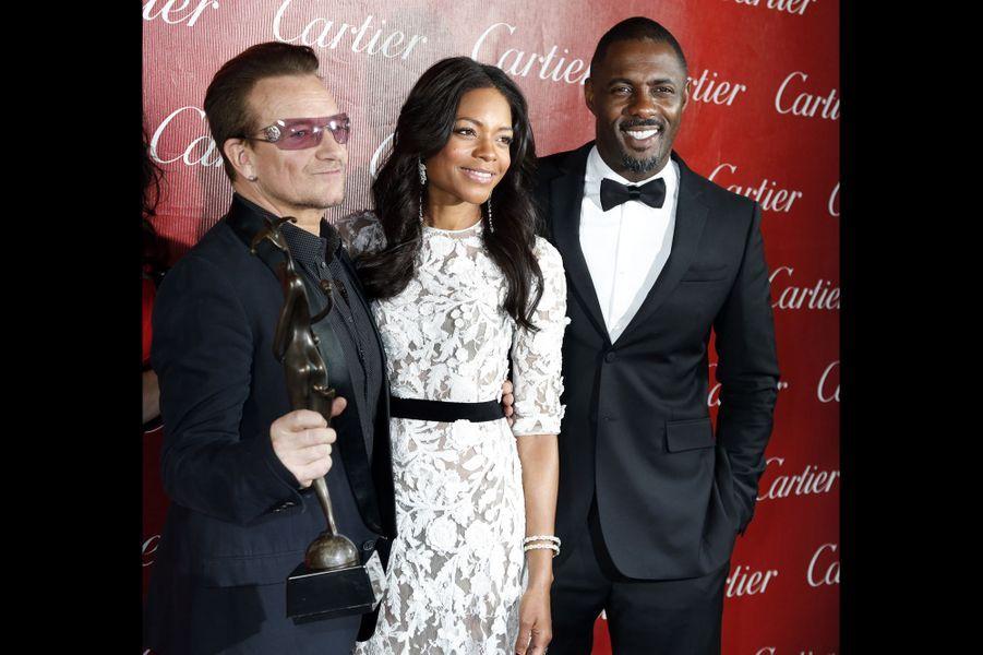 Bono, Naomie Harris et Idris Elba
