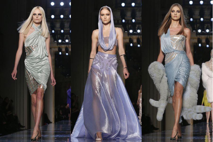 La Fashion Week Haute Couture Printemps-Eté 2014 s'est achevée ce vendredi. En images, florilège des plus beaux défilés parisiens.Atelier Versace a inauguré la semaine de la mode. Retrouvez le défilé en images ici.