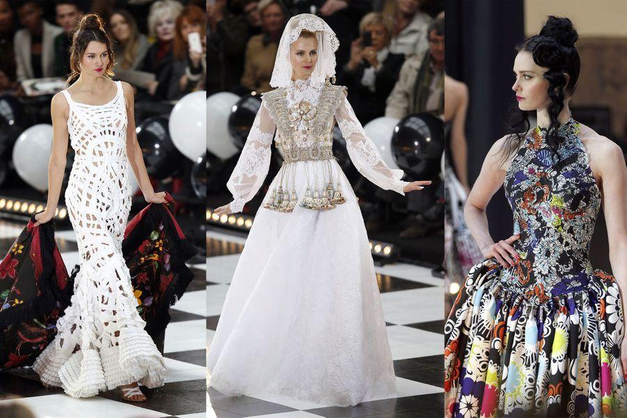 Franck Sorbier a présenté mercredi sa collection Haute-Couture Printemps-Eté 2014. Un impressionnant et poétique voyage à travers le monde à retrouver ici.