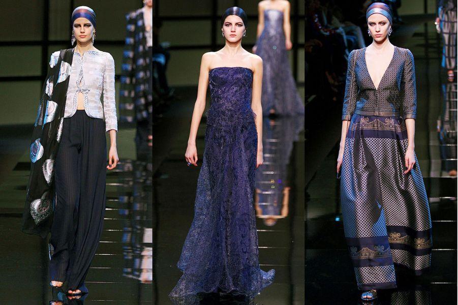 Une collection sombre et chic pour la maison de couture italienne, qui a défilé devant un parterre de stars.