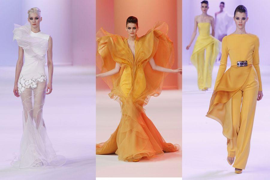 Du jaune sous toutes les coutures. Redécouvrez ici, l'explosion solaire du créateur français.
