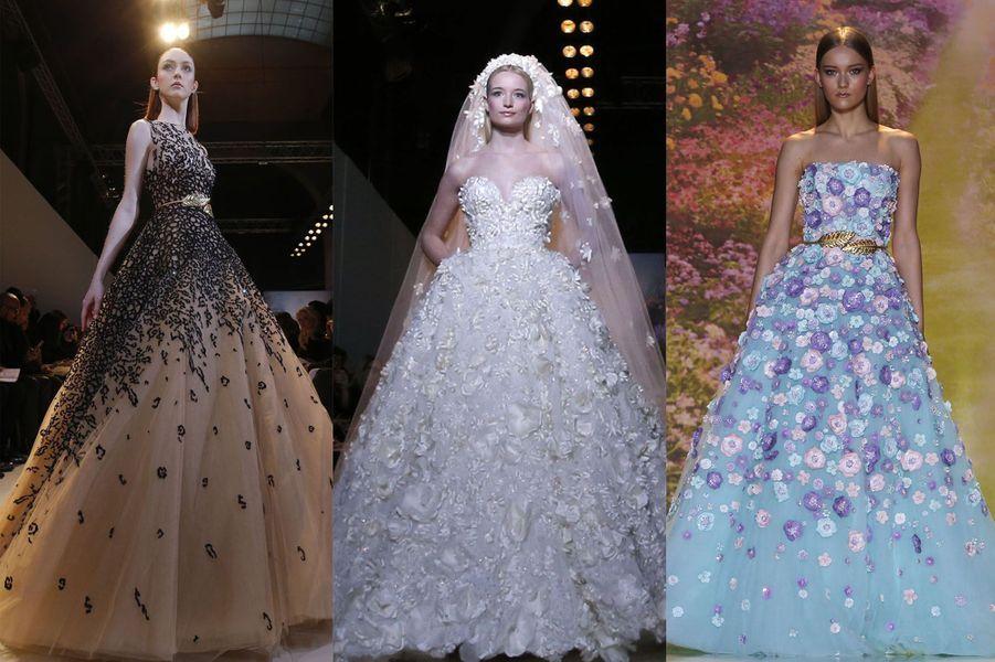 Il a présenté vendredi une collection magnifique, aux robes brodées de fleurs et aux tons pastel. Un moment de grâce qui s'est terminé par l'apparition de l'incroyable robe de mariée.