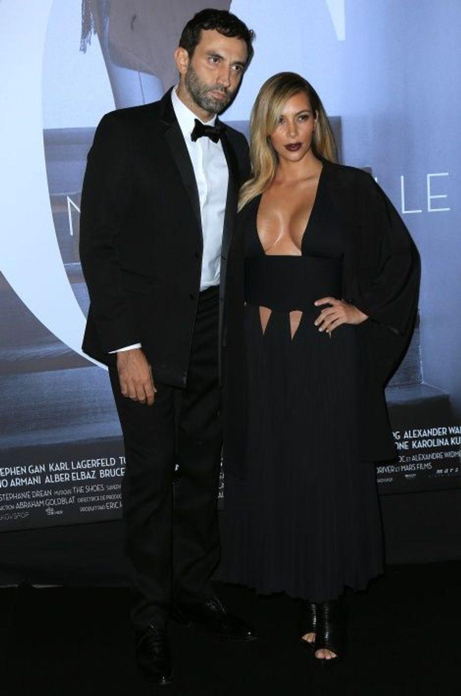 Riccardo Tisci, le directeur artistique de Givenchy, et Kim Kardashian