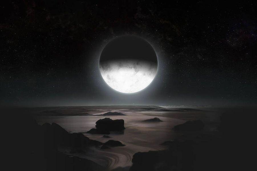 Un concept art de Pluton