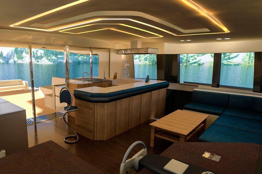 Le salon du yacht Solarwave 62.