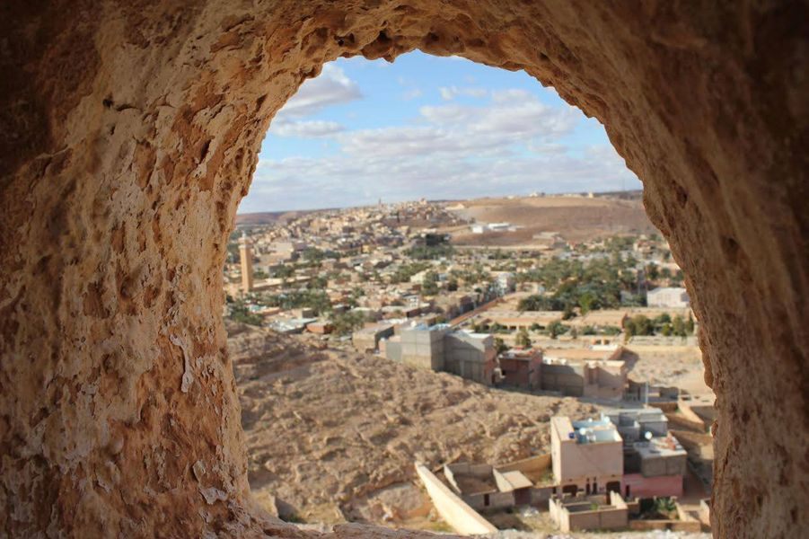 """Vue duhaut d'un minaret"" Beni Yezguen, Ghardaia"