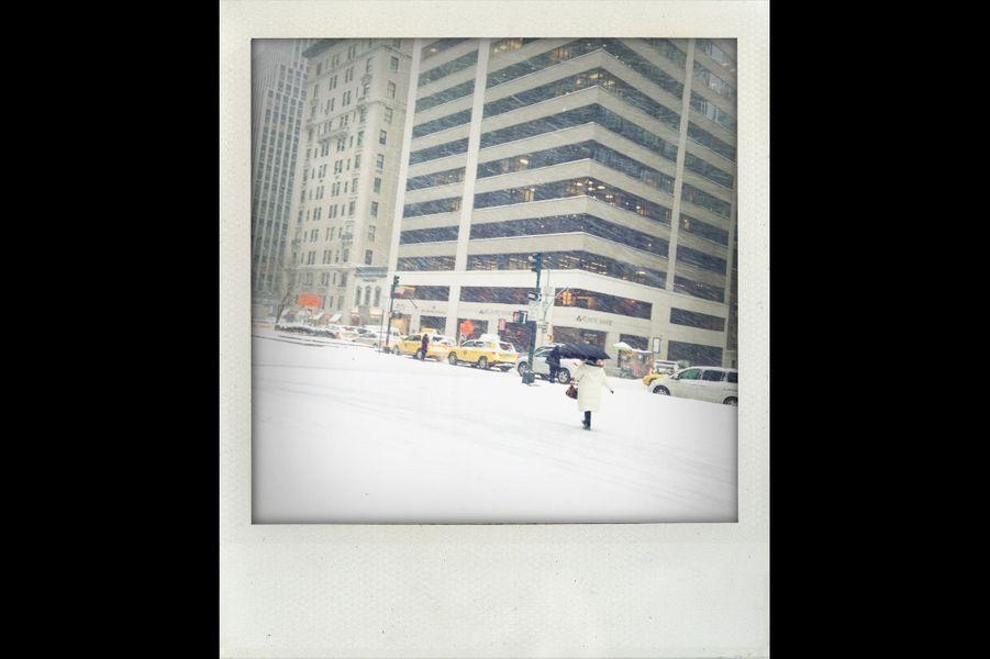 Notre photographe Sébastien Micke est, lui aussi, sous la neige new-yorkaise