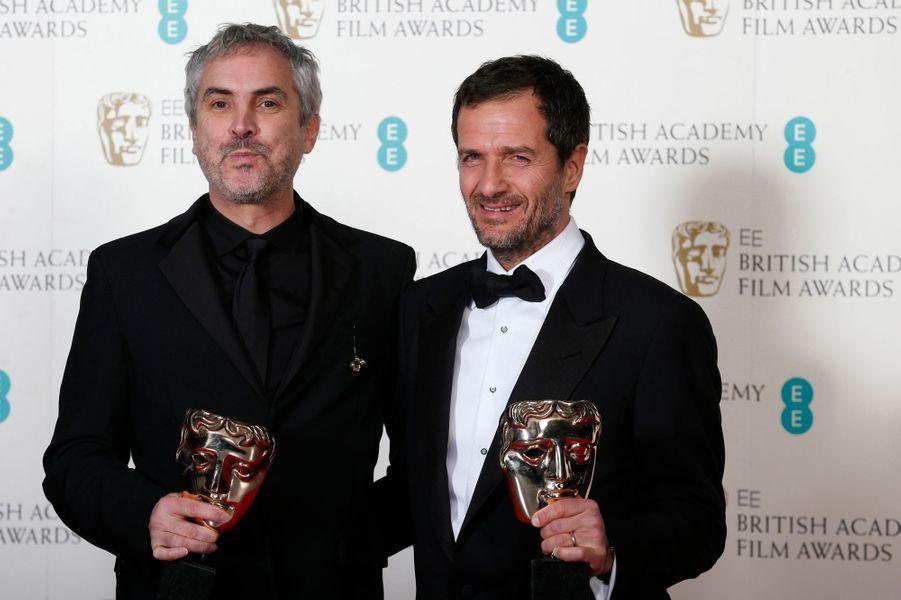 """Le réalisateur Alfonso Cuaron et le producteur David Heyman (""""Gravity"""")"""