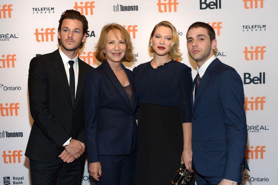 Gaspard Ulliel, Nathalie Baye, Léa Seydoux et Xavier Dolan au Festival du Film de Toronto