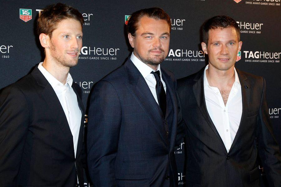 Avec Romain Grosjean et Sébastien Ogier