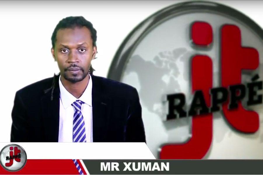 Jeune inconnu du monde occidental, Xuman est pourtant un des artistes africains les plus engagés. Ce pionnier du rap sénégalais lance en 2013 une chaîne YouTube au concept prometteur: le JT rappé. Sur de la musique hip-hop, l'artiste se mue en présen-rappeur de journal et dénonce l'actualité en la décrédibilisant. Il est accompagné de son ami Keyti qui s'occupe de la partie wolof.YouTube: https://www.youtube.com/user/jtronline