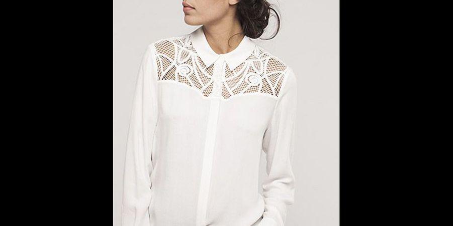 Afin de varier avec la classique chemise blanche, ce modèle propose un découpage stylisé. (voir l'épingle)Suivez nous sur Pinterest!