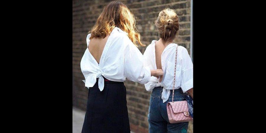 Voici la nouvelle tendance pour porter sa chemise en 2016 : la retourner afin de la nouer et de dévoiler un superbe dos nu. (voir l'épingle)Suivez nous sur Pinterest!