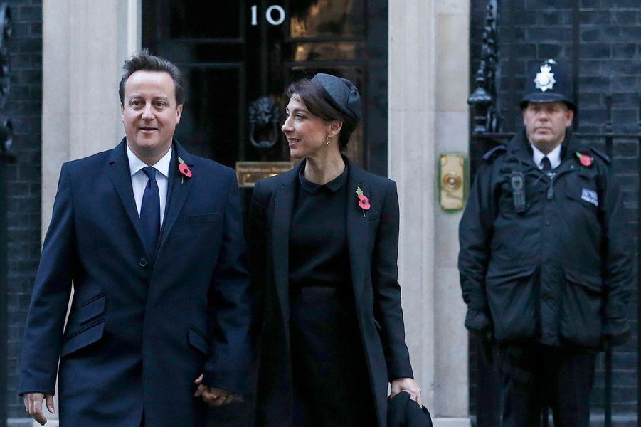 Le Premier ministre David Cameron et son épouse Samantha