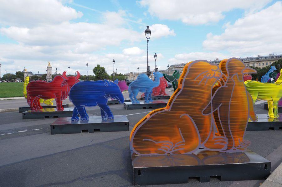 L'Arche de Noé Climat sur l'esplanade des invalides à Paris.