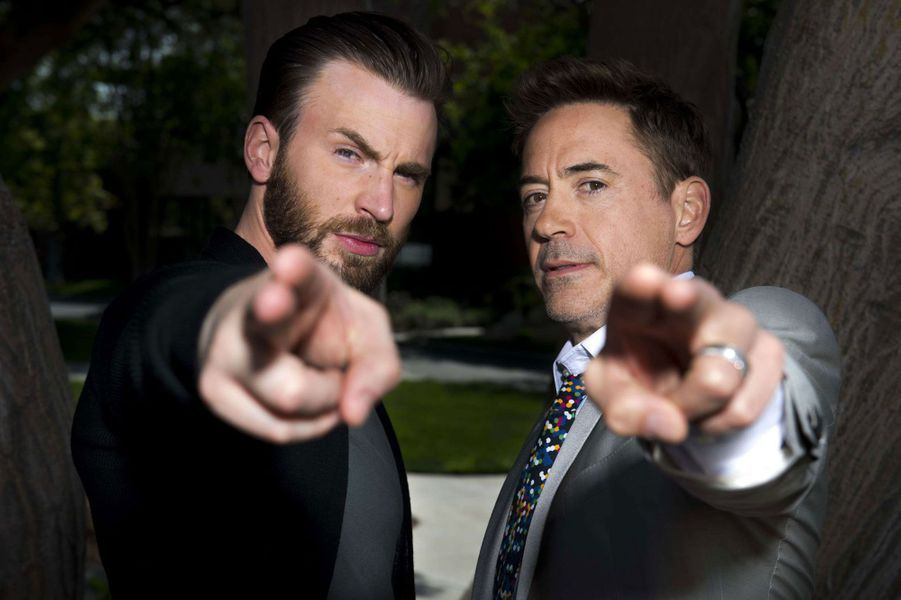 Chris Evans et Robert Downey Jr. sont Captain America et Iron Man
