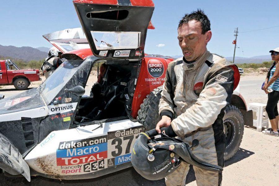 Pierre Lachaume à l'arrivée de la spéciale Chilecito-Tucuman.