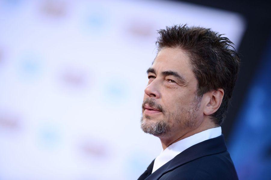 Benicio Del Toro à l'avant-première du dernier film du réalisateur James Gunn, « Les gardiens de la galaxie » le 22 juillet 2014.