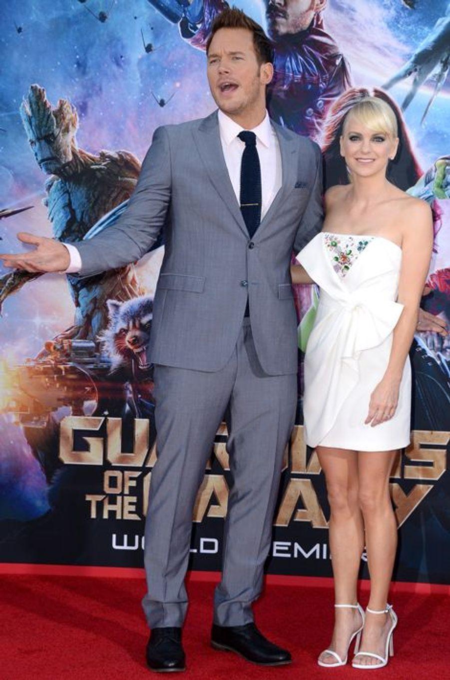 Chris Pratt et Anna Faris au théâtre Dolby à Hollywood, aux Etats-Unis le 22 juillet 2014.