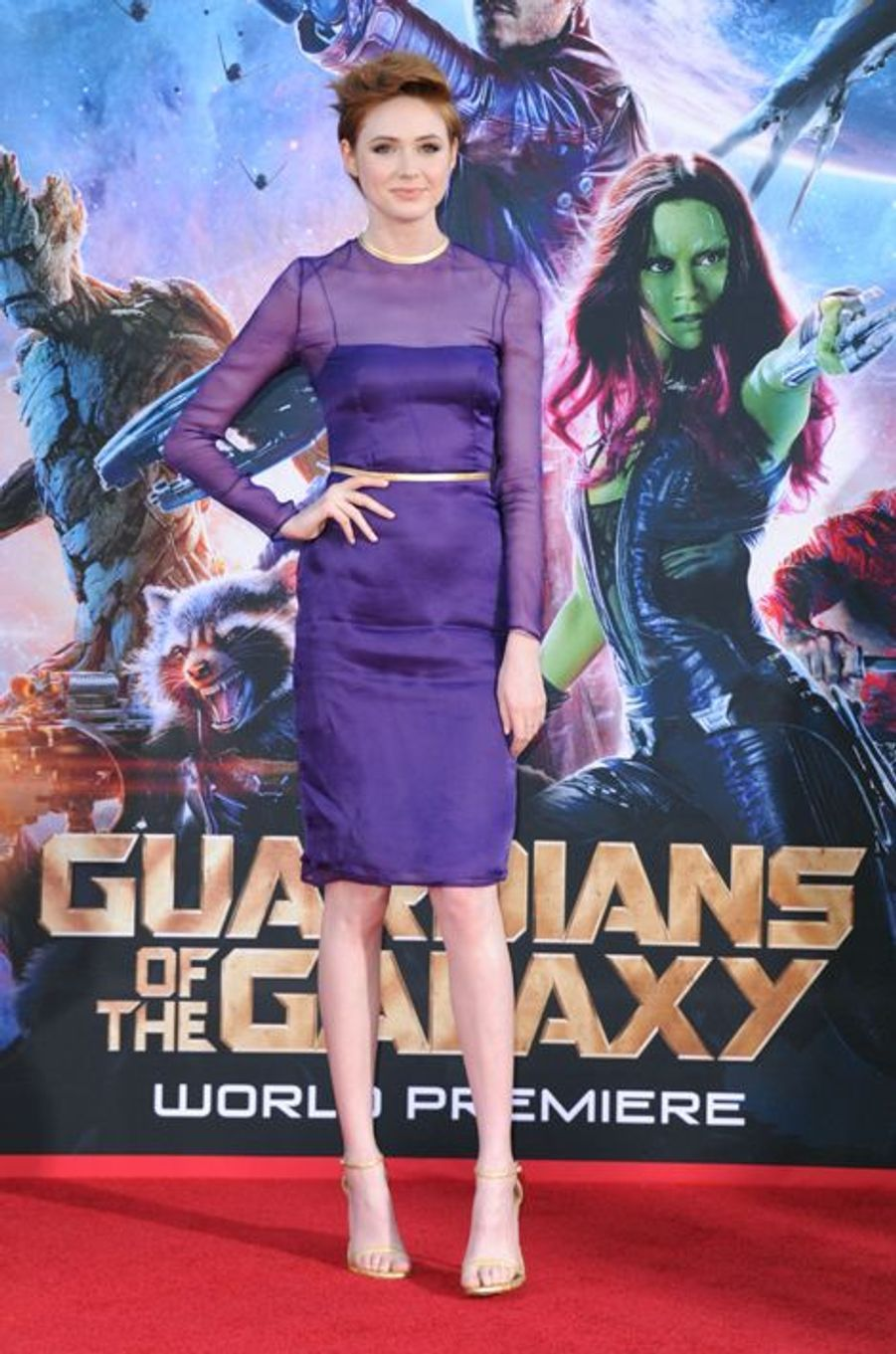 Karen Gillan à l'avant-première du film «Les gardiens de la galaxie» au théâtre Dolby à Hollywood, aux Etats-Unis le 22 juillet 2014.