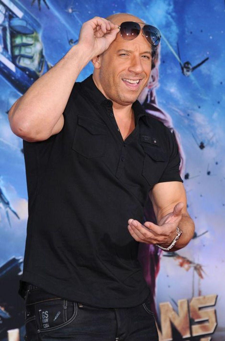 Vin Diesel, au théâtre Dolby à Hollywood, aux Etats-Unis le 22 juillet 2014.