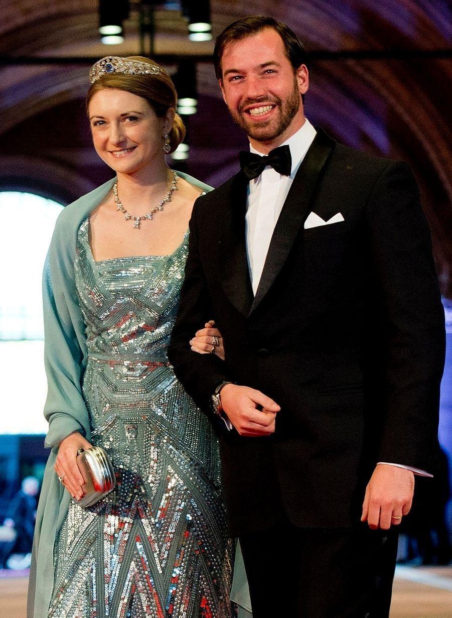 Le Grand-Duc héritier du Luxembourg Guillaume et la princesse Stéphanie