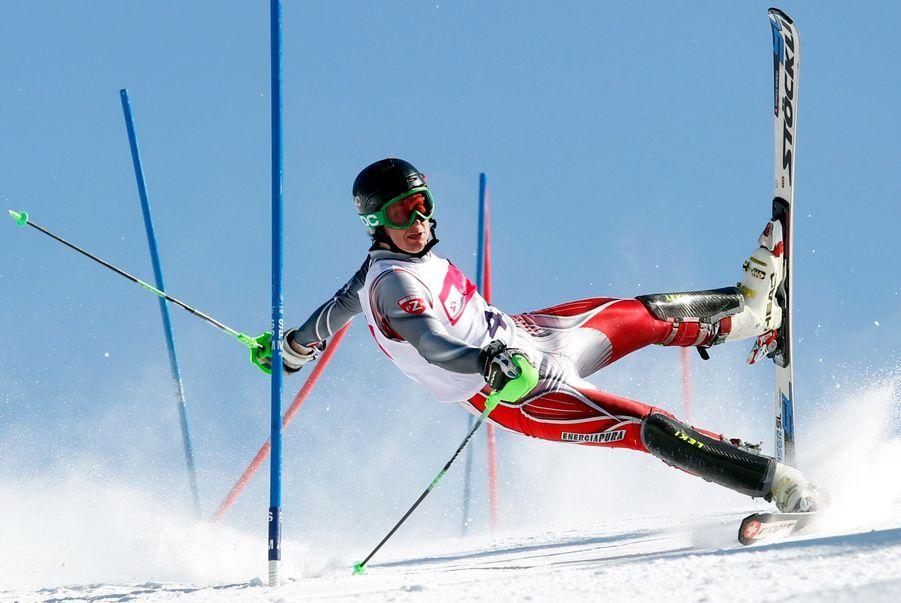 Andrzej Grygiel, Pologne, 24 Mars 2013, Szczyrk, PologneUn slalomeur en mauvaise posture.