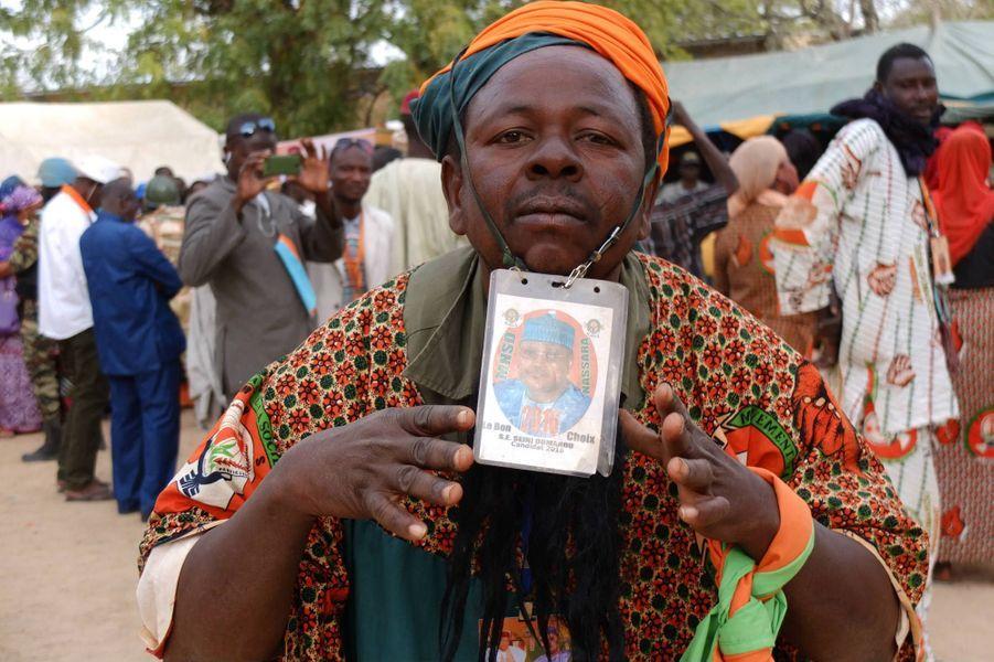 Meeting du principal opposant , Seini Oumarou, à Diffa, non loin de la frontière nigériane le 13 février 2016