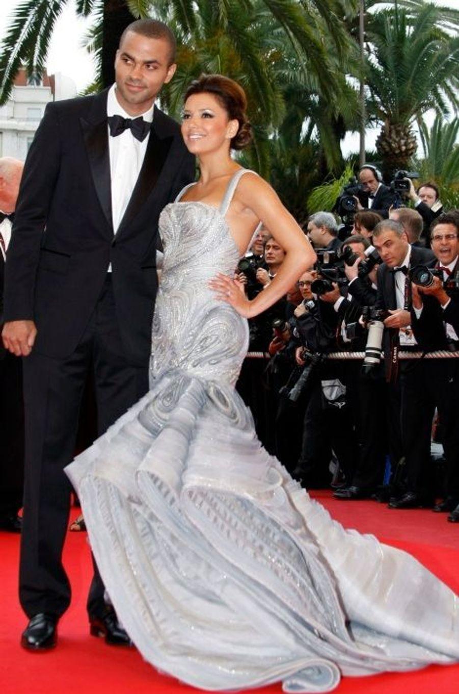 Tony Parker et Eva Longoria, le 7 juillet 2007 à Paris et Vaux-le-Vicomte (Seine-et-Marne)