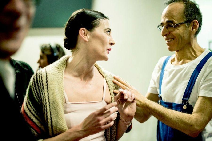 La danseuse étoile avec Goldman après un pas de deux.