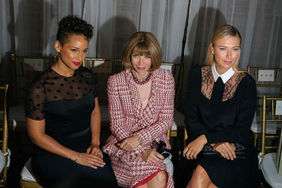 Alicia Keys, Anna Wintour et Maria Sharapova
