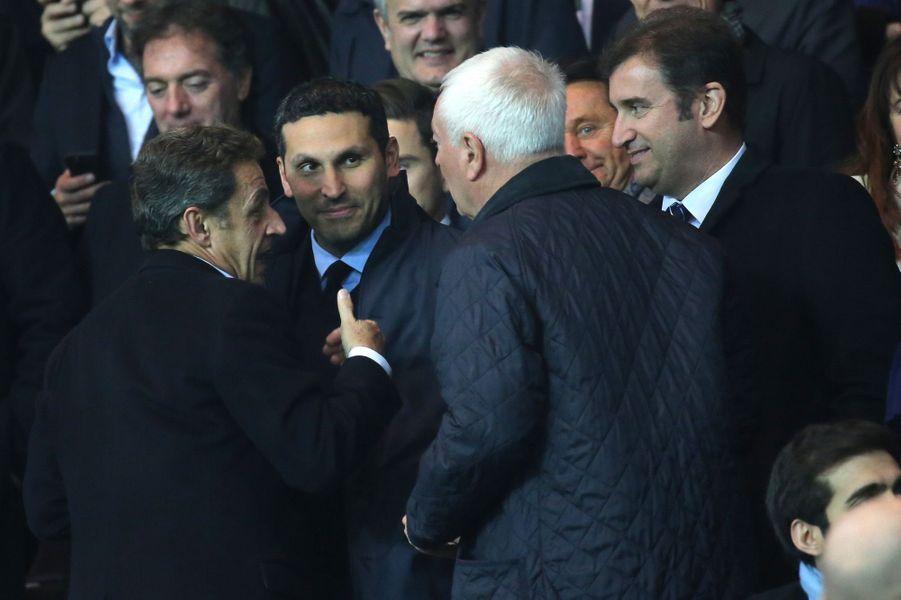 Nicolas Sarkozy et le président du club de football Manchester City, Khaldoon Al Mubarak