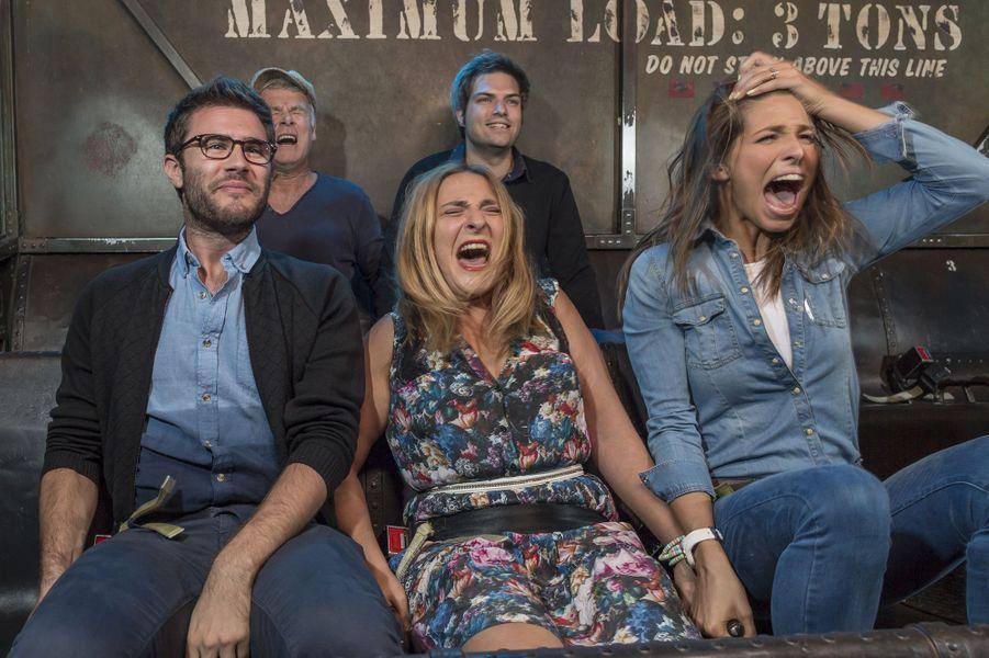 Franck Dubosc, Cyprien, Marilou Berry et Laury Thilleman dans la Tour de la Terreur