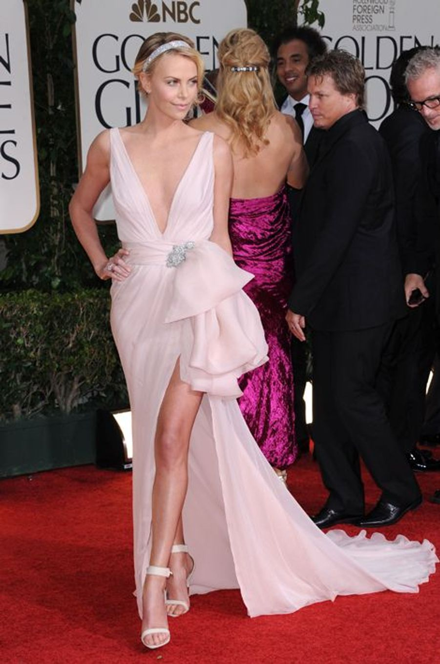 En Christian Dior aux Golden Globes 2012