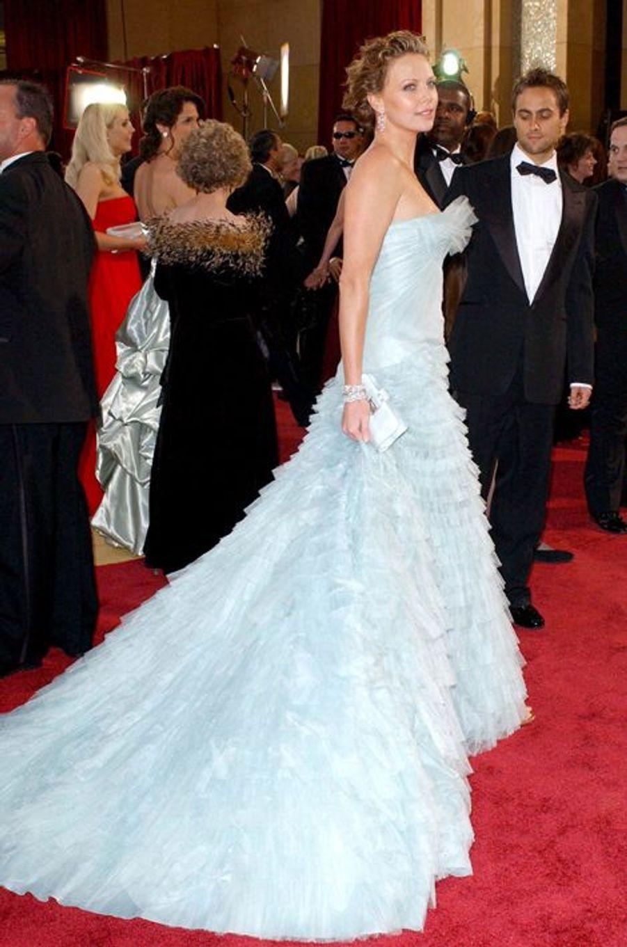En Christian Dior aux Oscars 2005