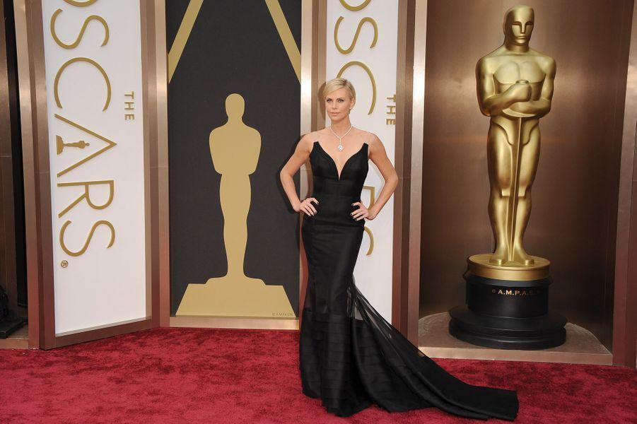 En Christian Dior Couture aux Oscars 2014