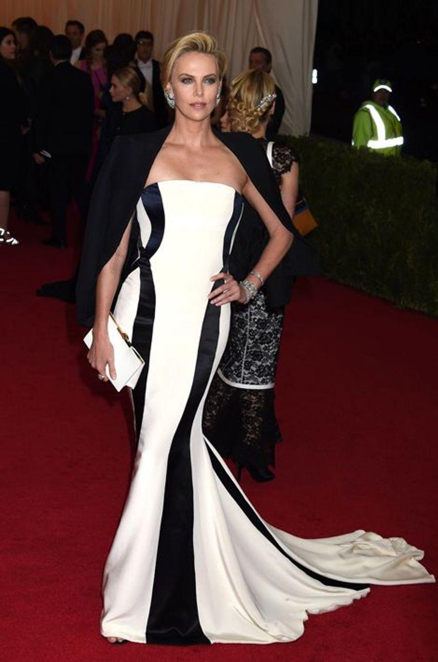 En Dior Couture au Gala du Met, en mai 2014