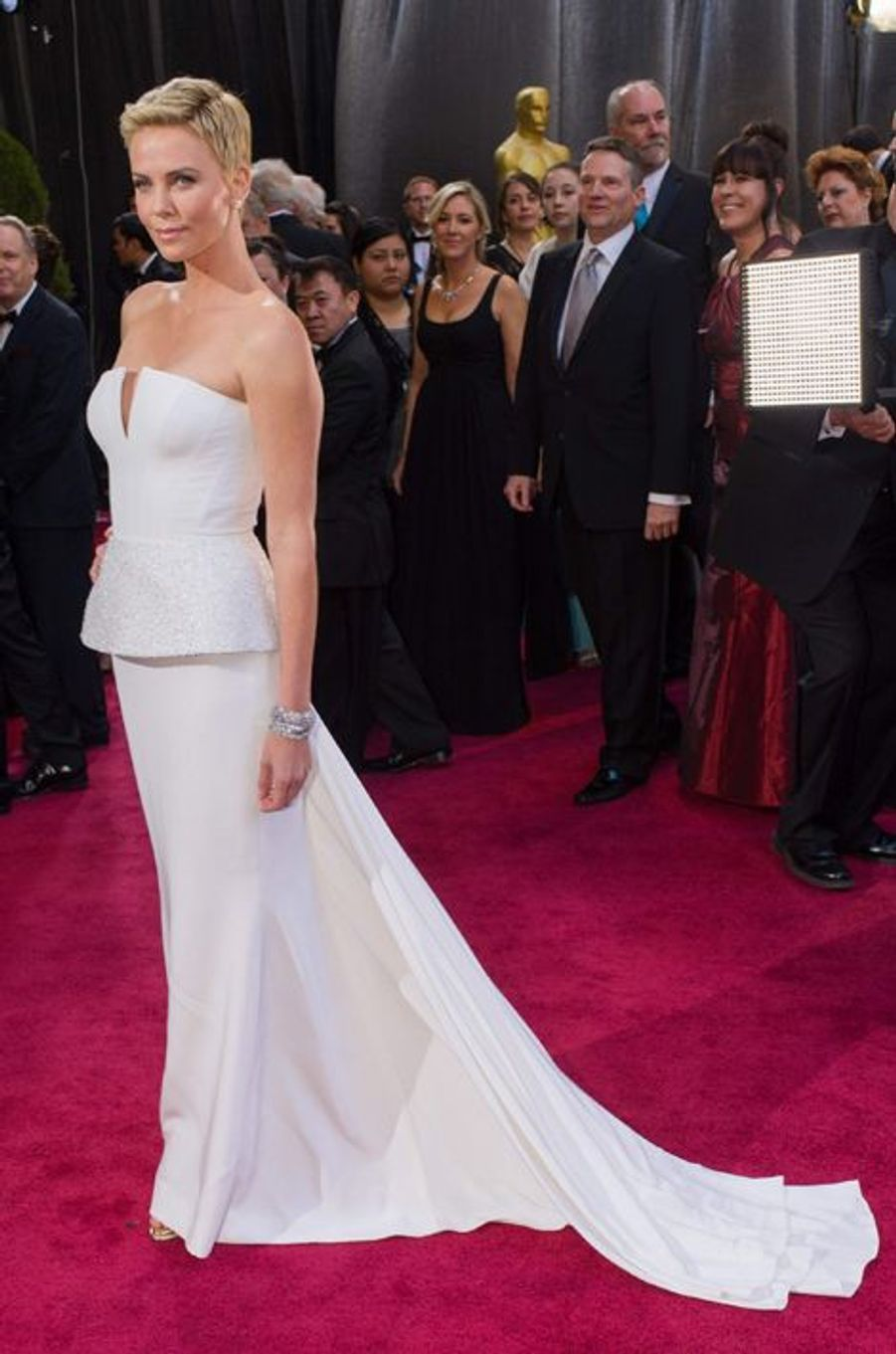 En Dior Couture aux Oscars 2013