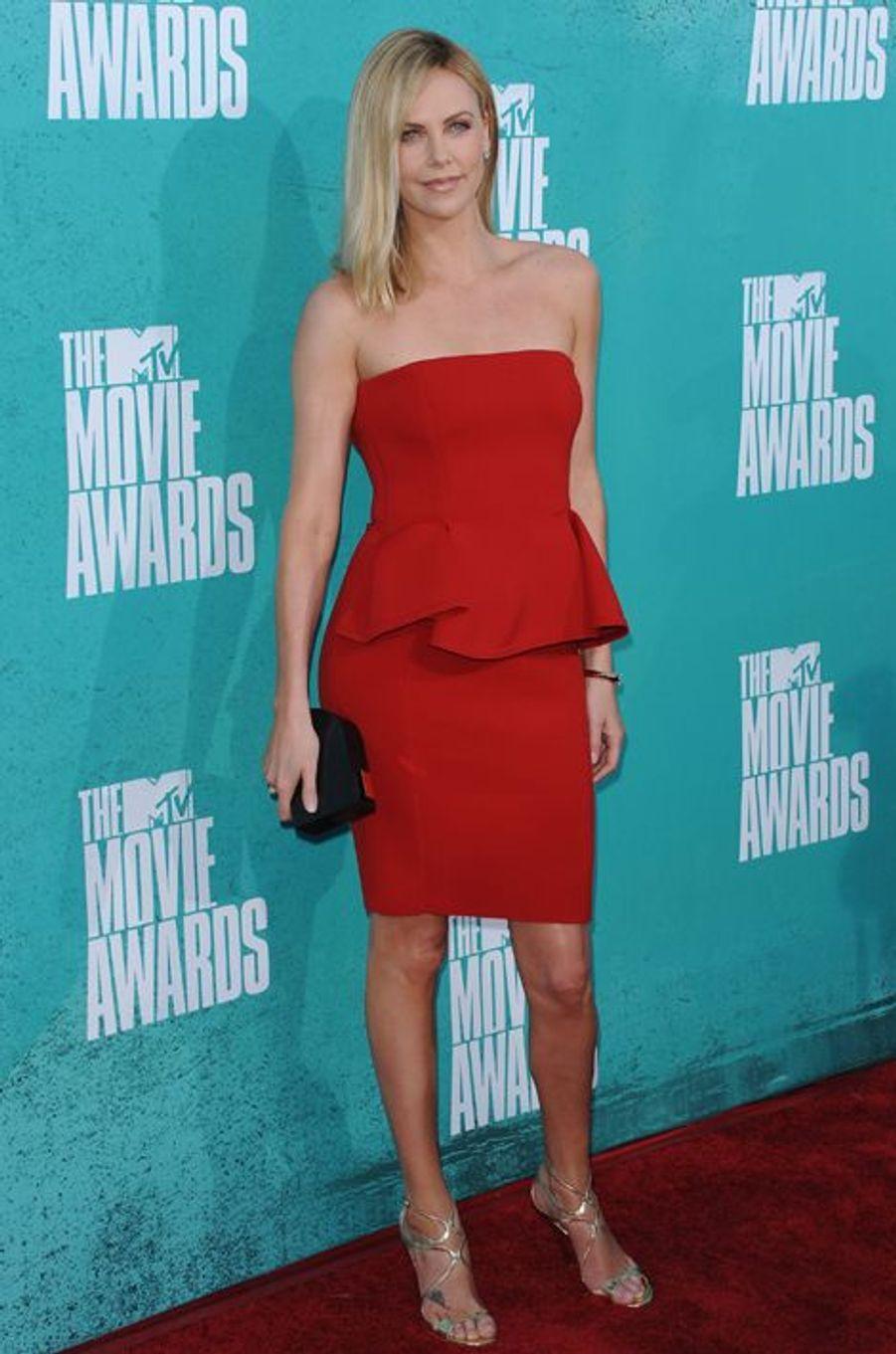 En Lanvin aux MTV Movie Awards 2012