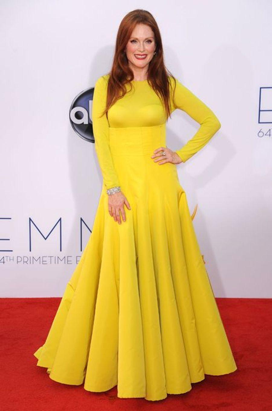 En Dior Couture aux Emmy Awards, en septembre 2012
